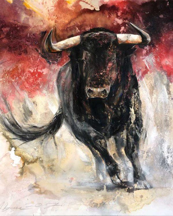 Arno Bruse Artwork - Kunstwerk - Toro rojo